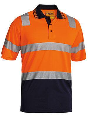 Bisley Short Sleeve Polo MMesh Orange