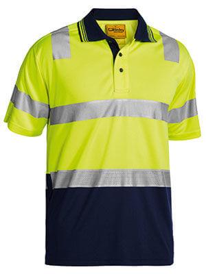 Bisley Short Sleeve Polo MMesh Yellow