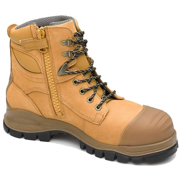 Blundstone style 992 Safety Zip Lace up Wheat