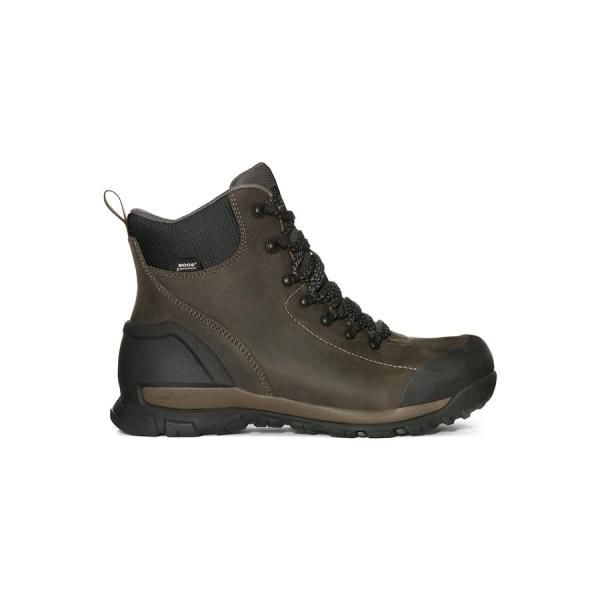 Bogs Menand39s Foundation Leather Brown  972234  NEW