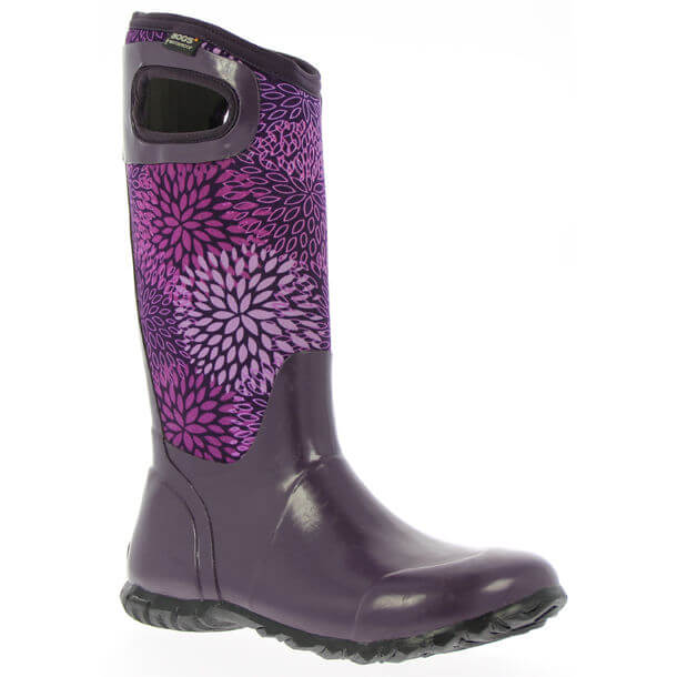 Bogs Nt Hampton Floral Womenand39s boot Plum