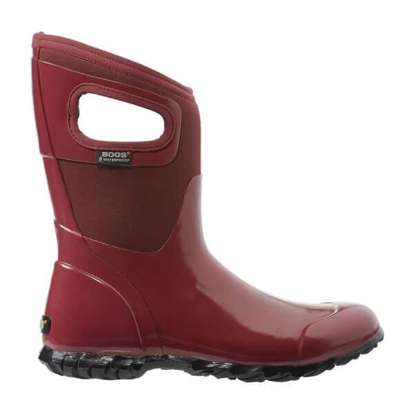 Bogs Nth Hampton Solid Mid Red