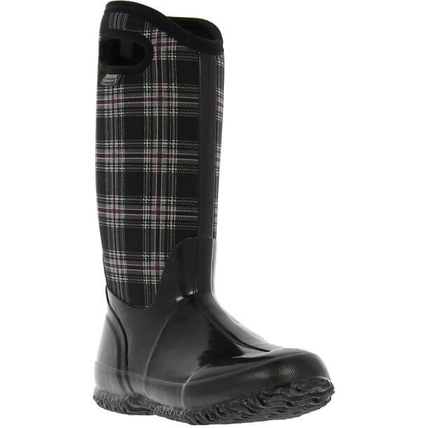 Bogs Winter Plaid Tall BlkM
