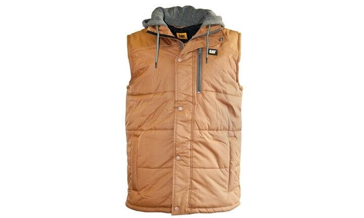 CAT Hooded Vest Brown