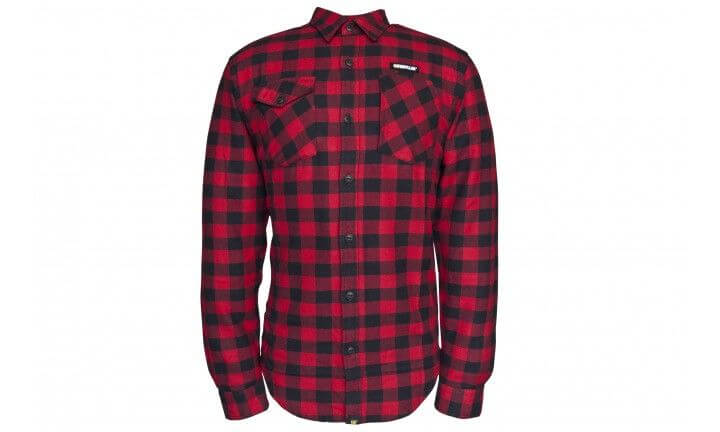 CAT Long Sleeve Shirt Plaid RedBlack