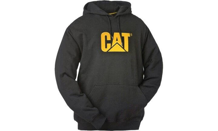 CAT trademark mens hooded sweatshirt