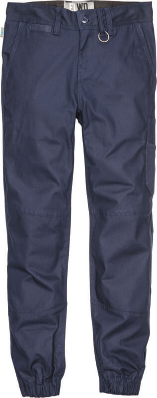 ELWD womens cuffed pant navy