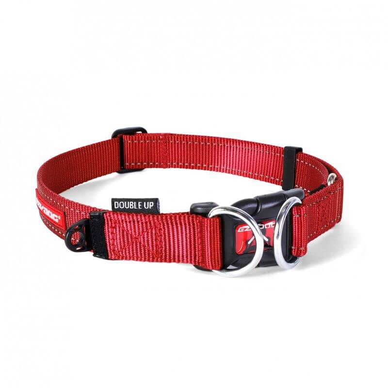 Ezy Dog Collar   double up red large