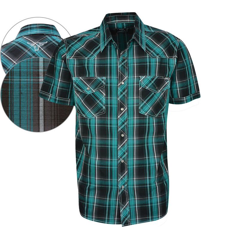 Pure Western Menand39s Mac Check 2PKT SS Shirt