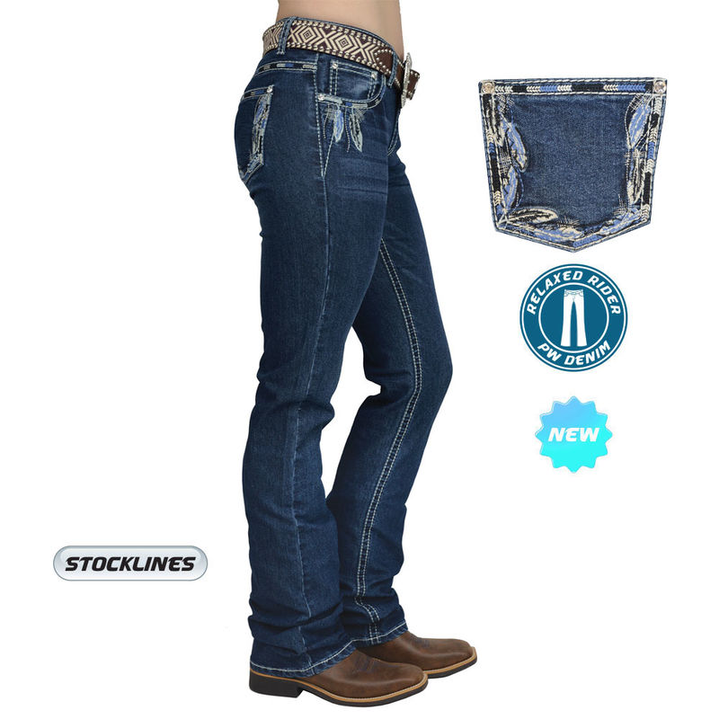 Pure Western Womenand39s Louisiana Relaxed Rider Jean