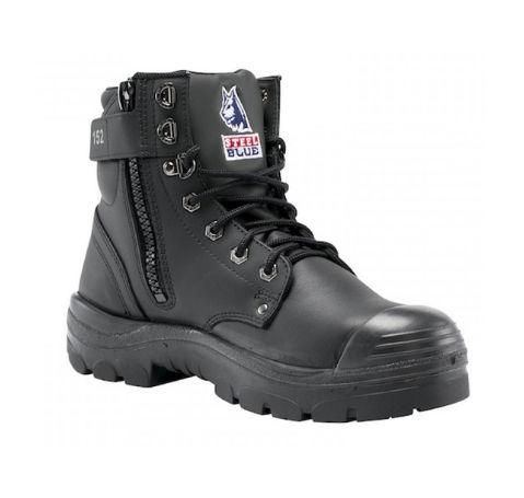 Steel Blue 332152 Argyle Zip + Bump cap   Black