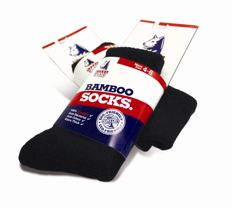 Steel Blue Bamboo Socks