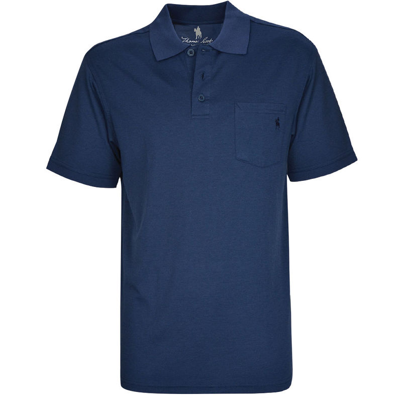 Thomas Cook Mens Bamboo 1PK SS Polo Navy