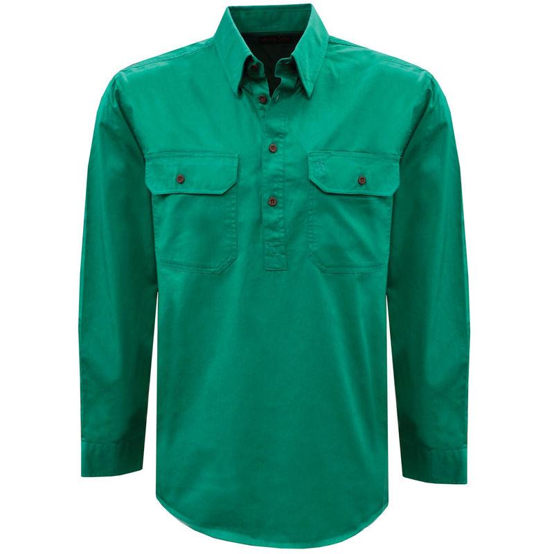 Thomas Cook Mens Light Drill 12 PLKT LS Shirt Bright Green