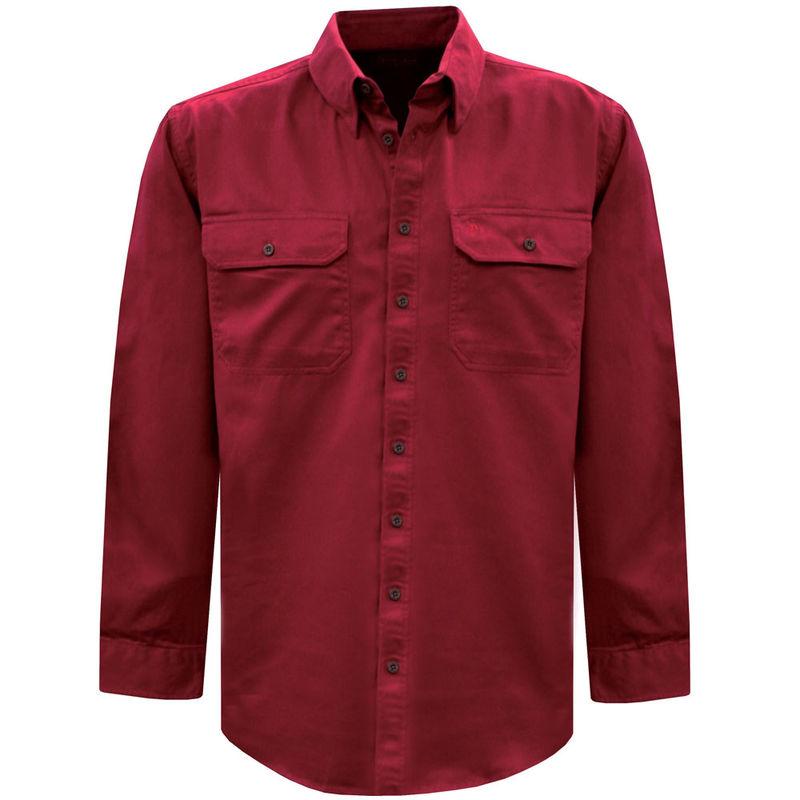 Thomas Cook Mens Light Drill 2PK LS Red Shirt