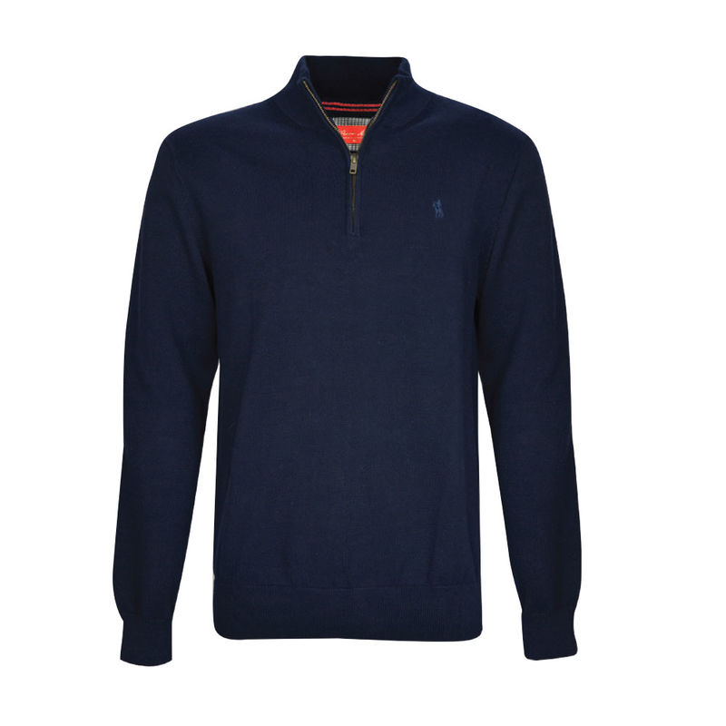 Thomas Cook Mens Louie 14 Zip Neck Jumper  Deep Navy