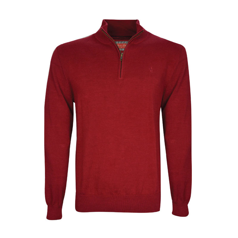 Thomas Cook Mens Louie 14 Zip Neck Jumper  Red