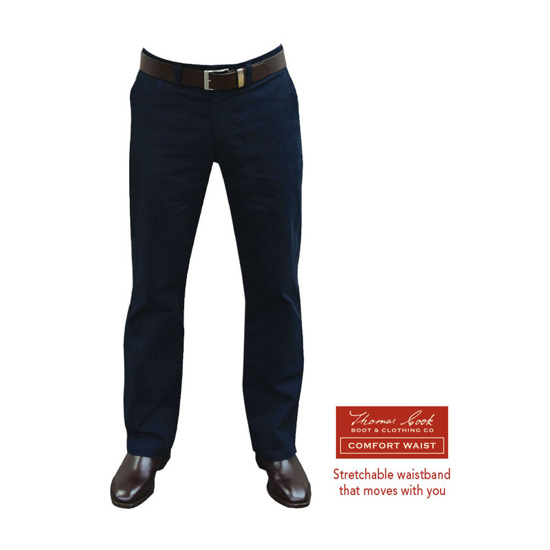 Thomas Cook Mens Stretch Moleskin Jean  Navy