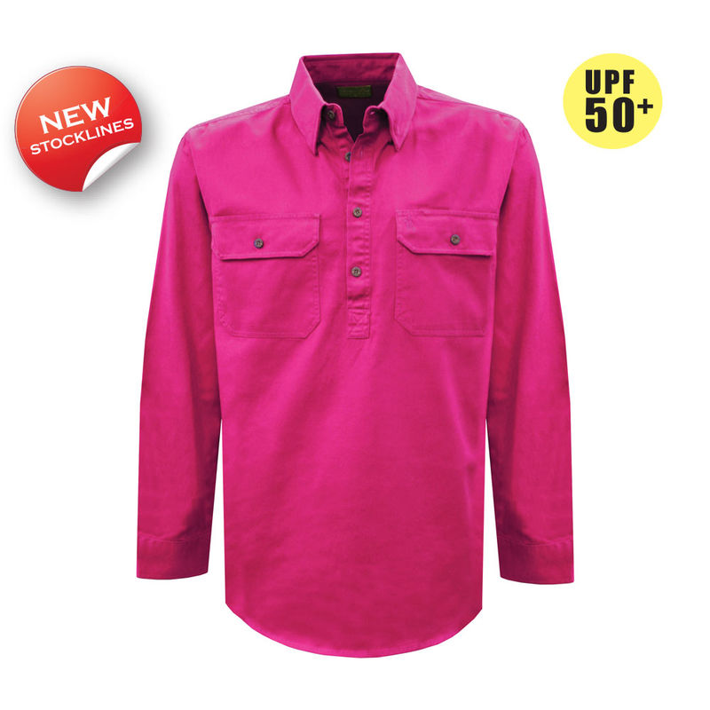 Thomas Cook Womens Heavy Cotton Drill 2PK 12 Plkt LS Pink