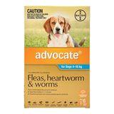 Advocate Dog - AQUA MEDIUM 4-10KG (3 PACK)