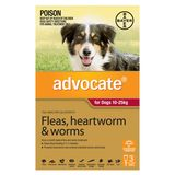 Advocate Dog - RED LARGE DOGS 10-25KG (3 PACK)