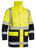 Bisley 5 in 1 Rain Jacket (HiVis) Yellow/Navy