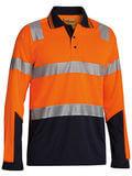 Bisley Long Sleeve Hi Vis Polo M/Mesh (Orange)