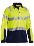 Bisley Long Sleeve Hi Vis Polo MMesh Yellow