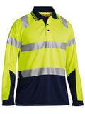 Bisley Long Sleeve Hi Vis Polo M/Mesh (Yellow)