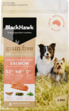 Black Hawk Adult dog grain free salmon 2.5kg