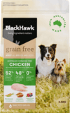 Black Hawk Adult dog grain free chicken 2.5kg