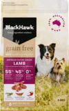 Black Hawk Adult dog grain free lamb 2.5kg