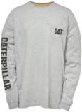 Caterpillar Trademark Banner Long Sleeve Tee - Heather Grey