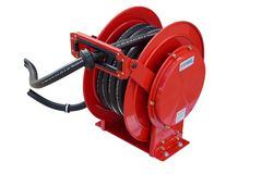 TTi Spring loaded auto rewind diesel hose & reel with 10 metres of 25mm hose
