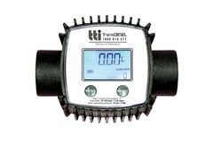 TTi 5 digit electronic flow meter (00000L) with 1 inch ports