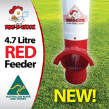 Dine a Chook - 4.7L Red feeder