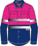 NCC WorkCraft - Kids Long Sleeve (Navy/Pink)