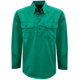 Thomas Cook Mens Light Drill 1/2 PLKT L/S Shirt Bright Green