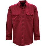 Thomas Cook Mens Light Drill 2PK L/S Red Shirt