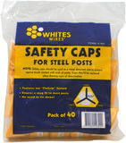 Whites Star Post Safety Cap (Triangular) Pack of 40