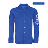 Wrangler Men's Rodeo Drill Shirt - Cobalt