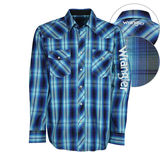 Wrangler Men's Axel Check Logo Shirt