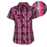 Wrangler Women's Yasmin Check S/S Shirt